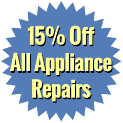 15% Off Appliance Repairs